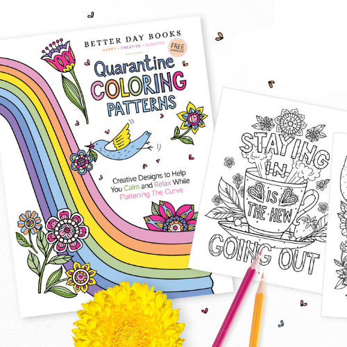 Adult Coloring Book Trend is Back with Quarantine Coloring Patterns
