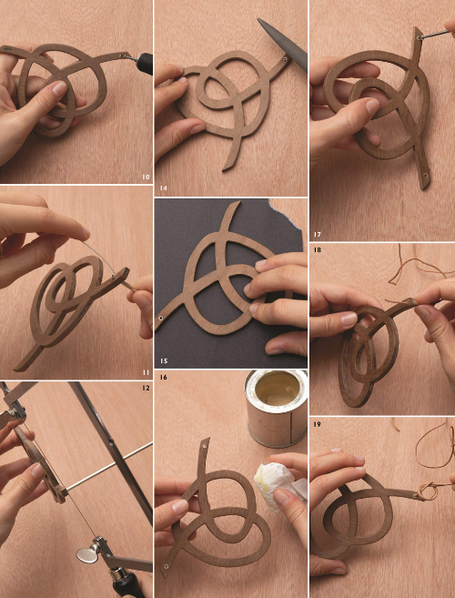 Walnut Squiggle Pendant Step-By-Step Photos