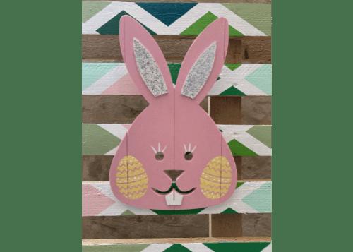 Sparkly Bunny Door Hanger