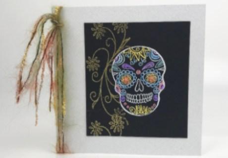 Colorful Calavera Card Featured
