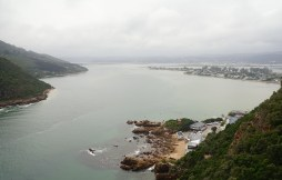 """Looking back on the town of Knysna from the top of the """"Heads"""""""