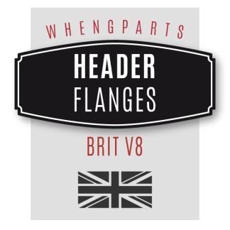 Brit V8 Header Flanges
