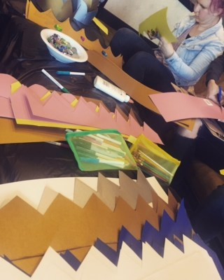 making paper crowns