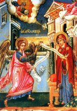 The Annunciation, Orthodox style. Picture: http://days.pravoslavie.ru/name/3042.htm