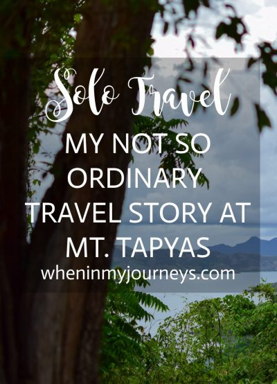 Solo Travel My Not So Ordinary Travel Story at Mt. Tapyas Portrait
