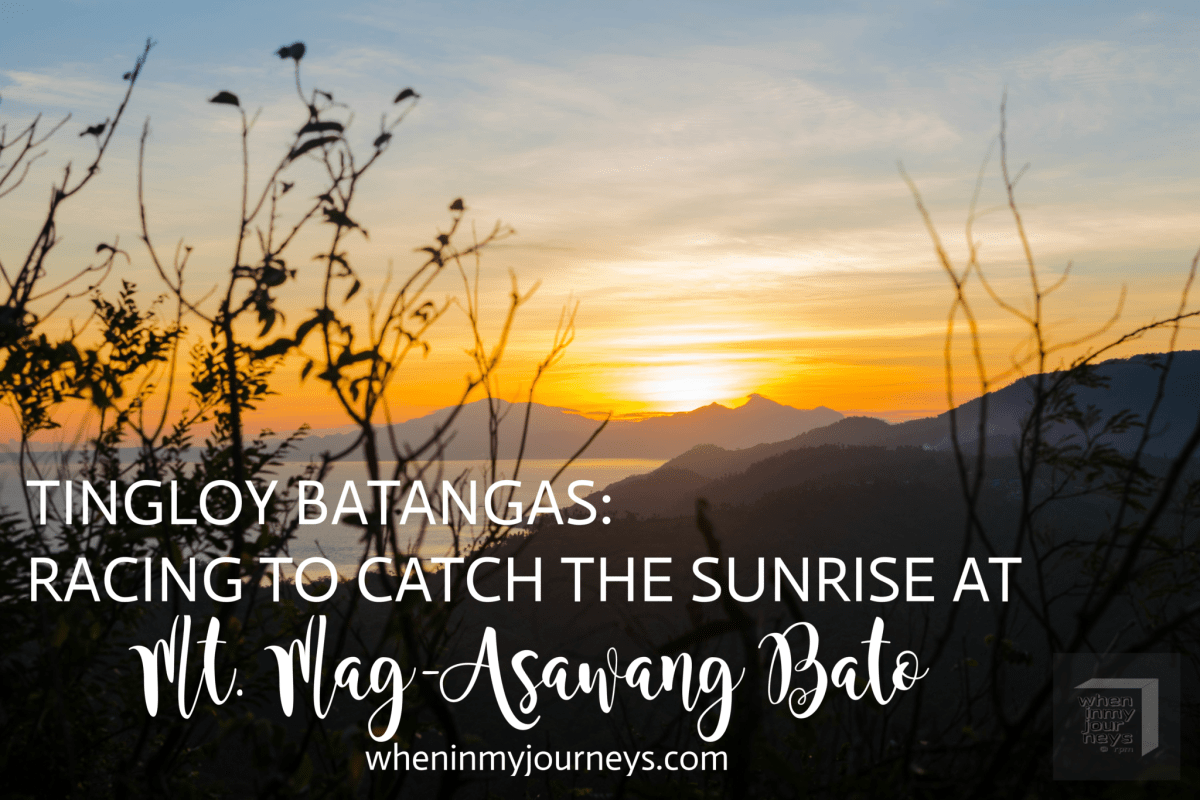 Tingloy, Batangas: Racing to Catch the Sunrise at the Peak of Mt. Mag-Asawang Bato