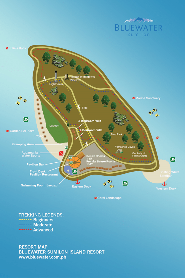 Bluewater Sumilon Island Map