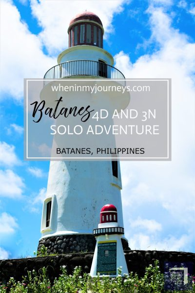 Batanes 4D and 3N Solo Adventure