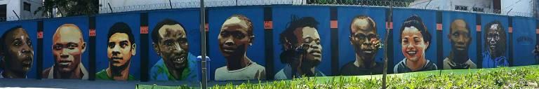 mural dos refugiados boulevard olimpico