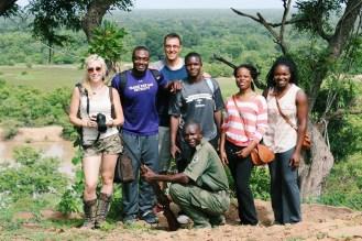 Walking safari crew