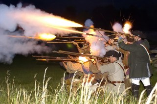 Raid at Martin's Station. Wilderness Road State Park. Image by Virginia State Parks.