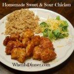 Homemade Sweet & Sour Chicken