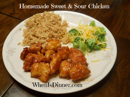 Homemade Sweet & Sour Chicken