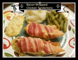 Bacon Wrapped Chicken Tenderloins