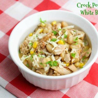 Crock Pot Turkey White Bean Chili