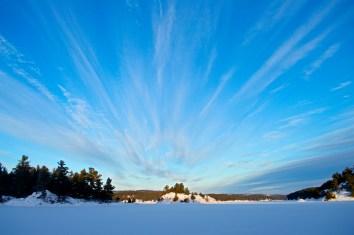 The Streaking Blue Sky