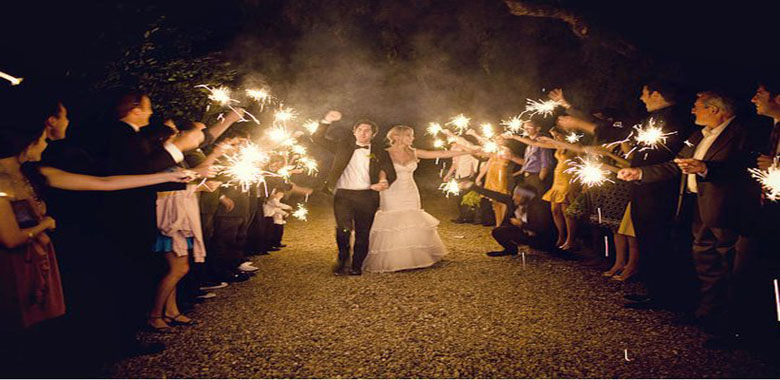 Sparklers For Your Wedding Reception