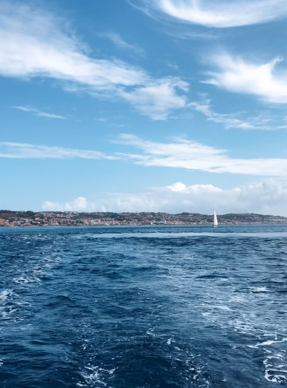 Whirlpool in the strait of messina on a sailboat