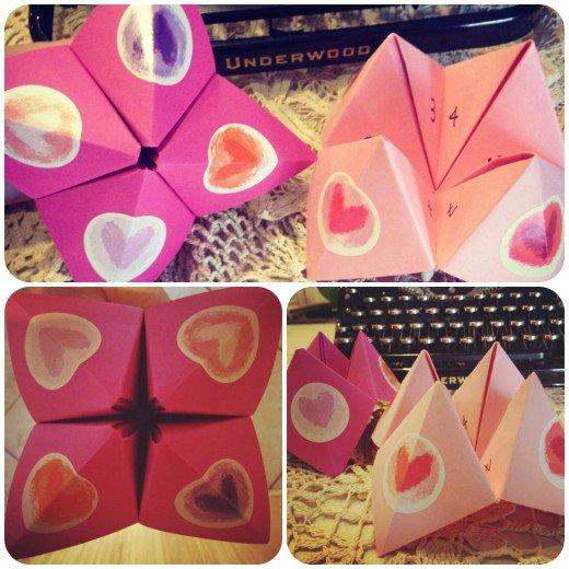 origami valentine cootie catcher