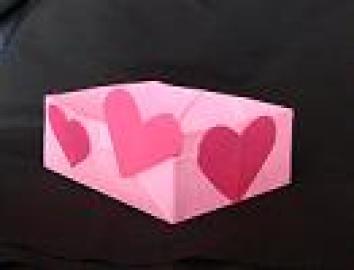 origami valentine box