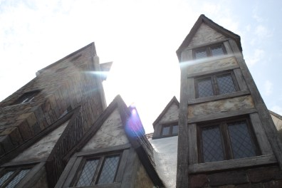 This was the Three Broomsticks and I angled it so perfectly to get that amazing lens flare.