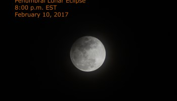 Eclipse of the moon, February 10, 2017