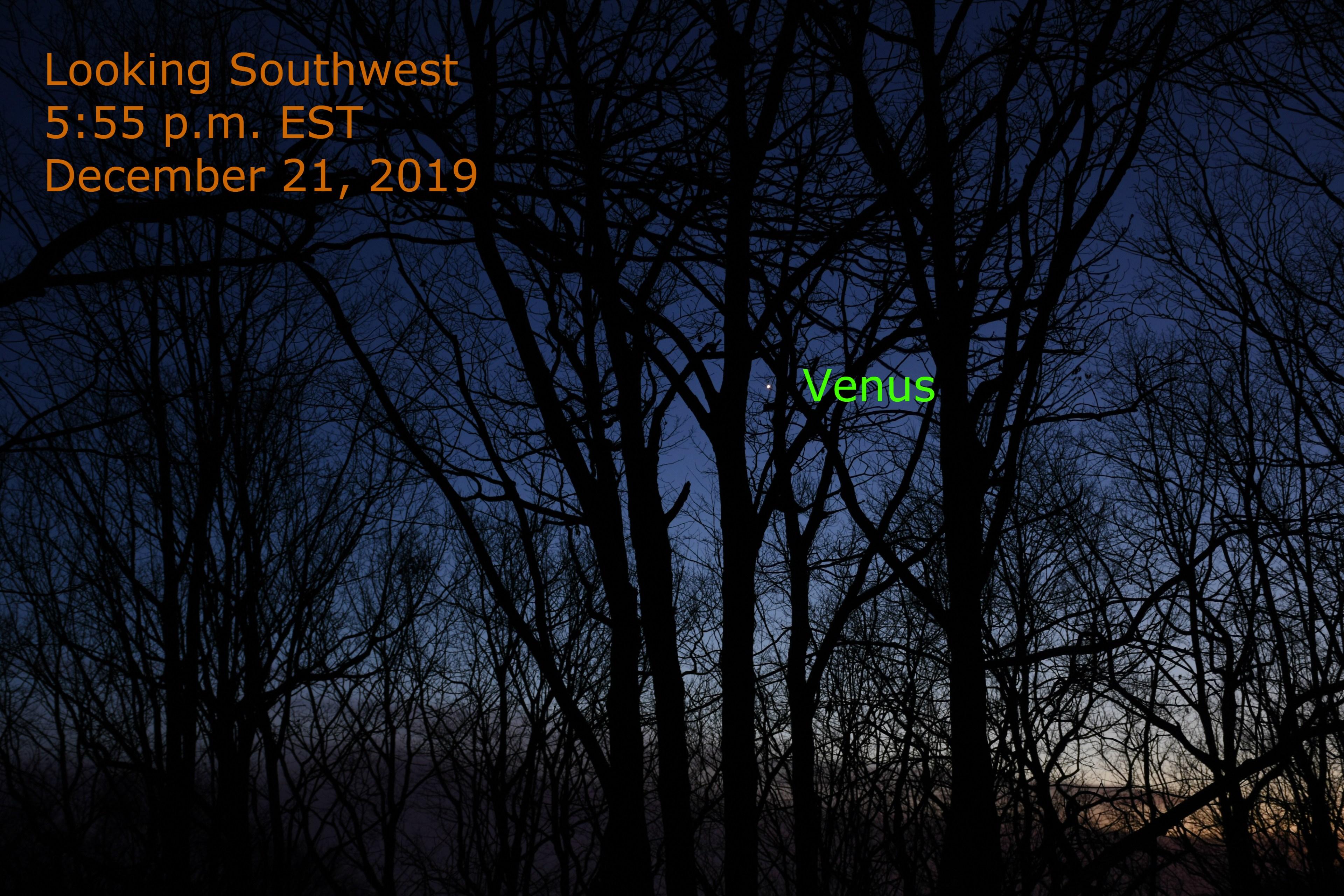 Venus on solstice evening 2019.