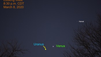 Venus and Uranus, March 8, 2020