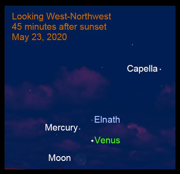 Mercury and Venus, May 2020