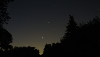Venus and Jupiter in the morning sky, July 21, 2012