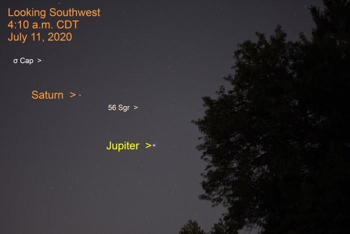 Jupiter and Saturn in Sagittarius, July 11, 2020