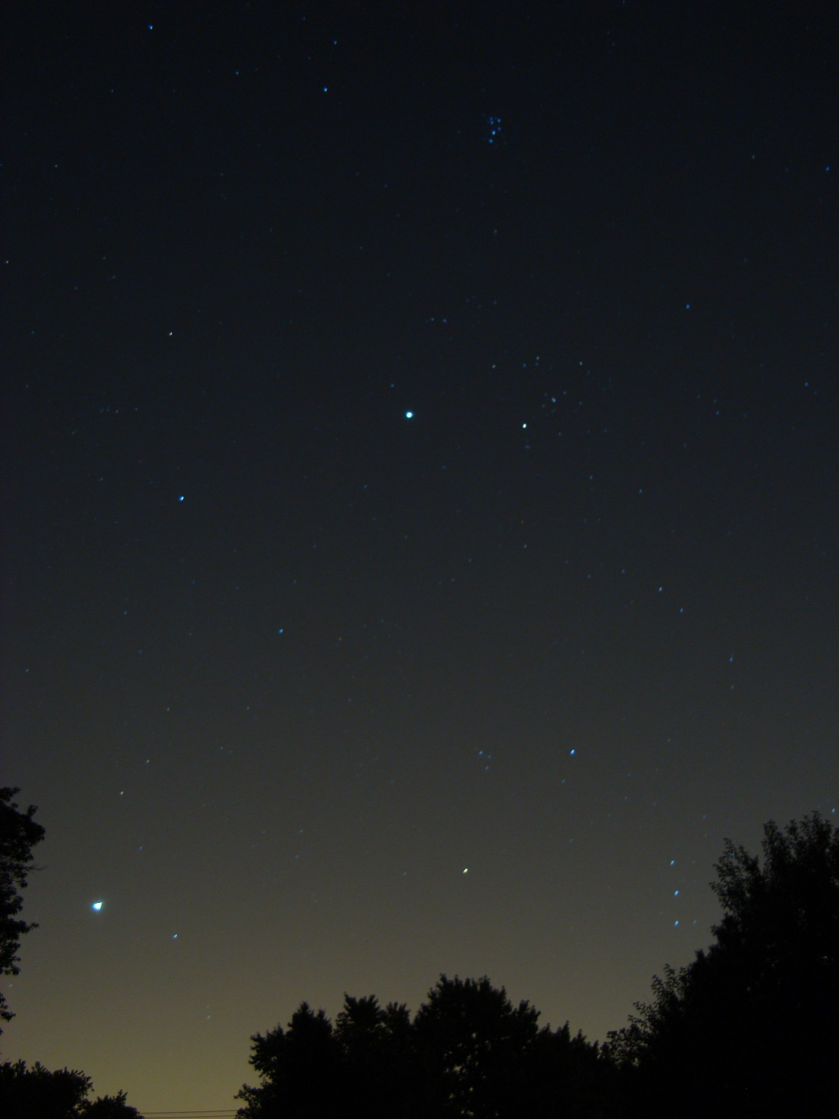 Venus and Jupiter, August 18, 2012