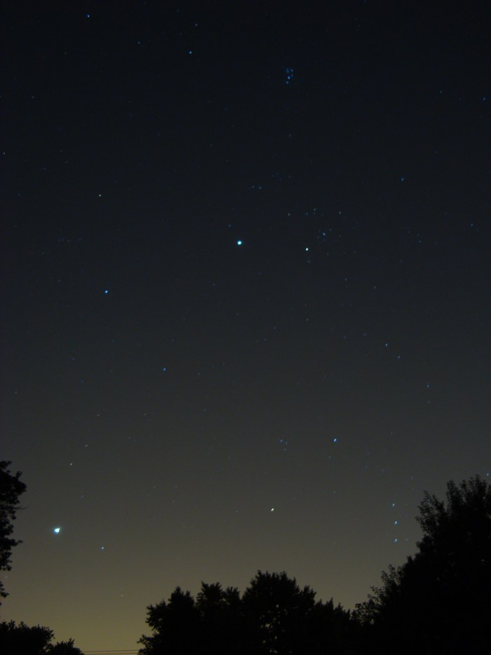 Venus and Jupiter, August 18, 2012
