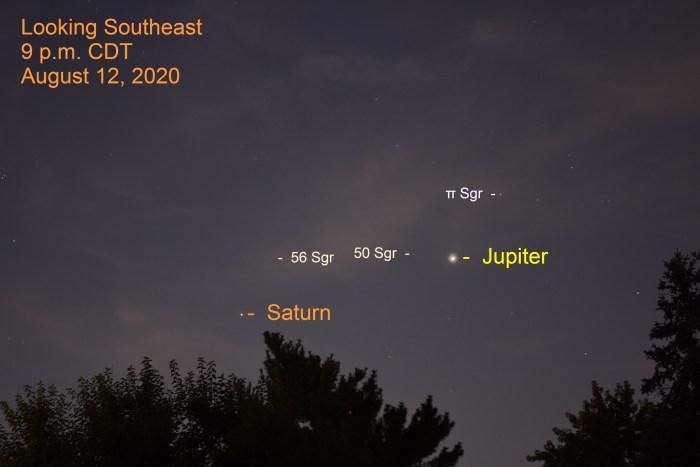 Jupiter and Saturn, August 12, 2020
