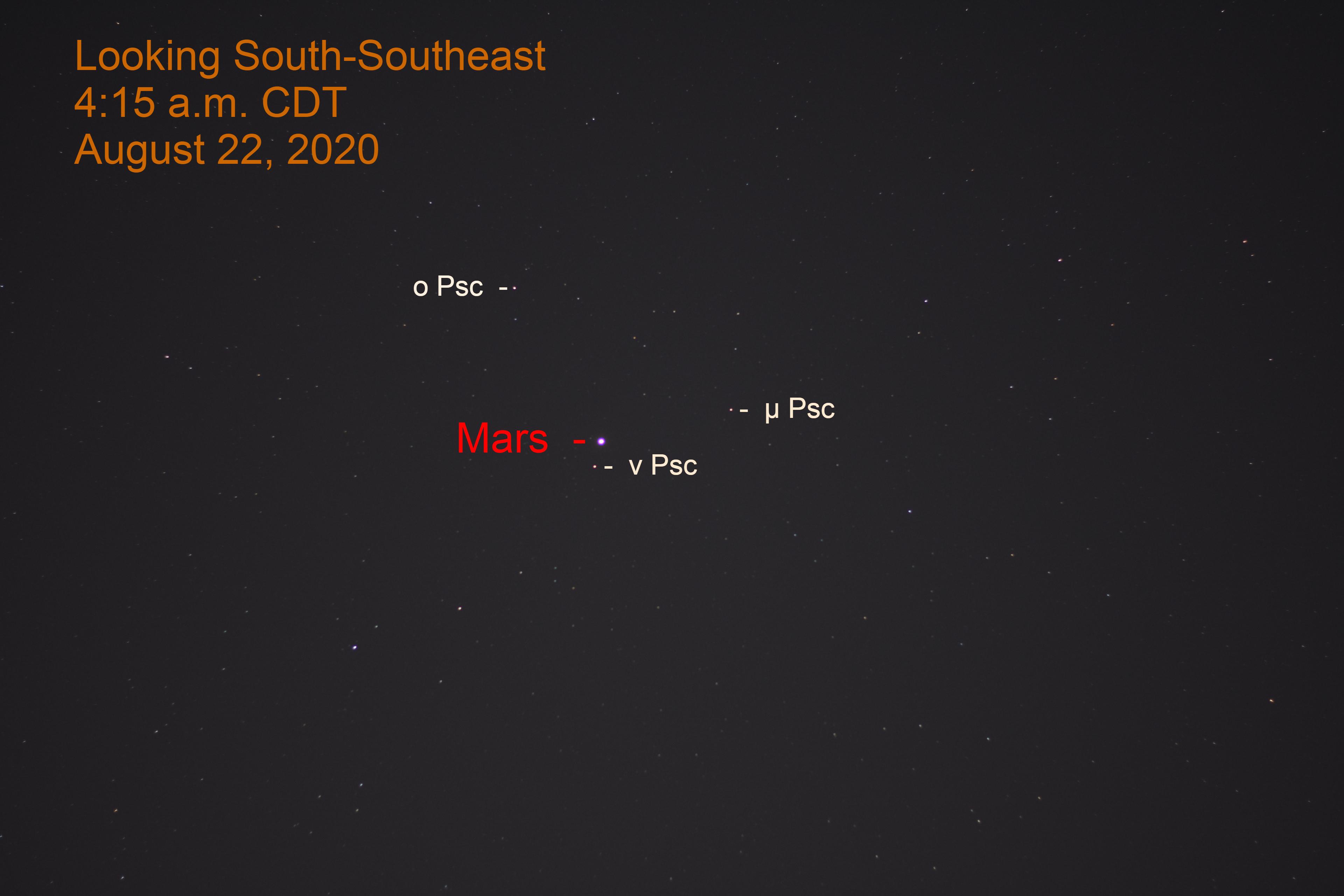 Mars in Pisces, August 22, 2020