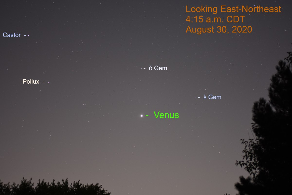 Venus in Gemini, August 30