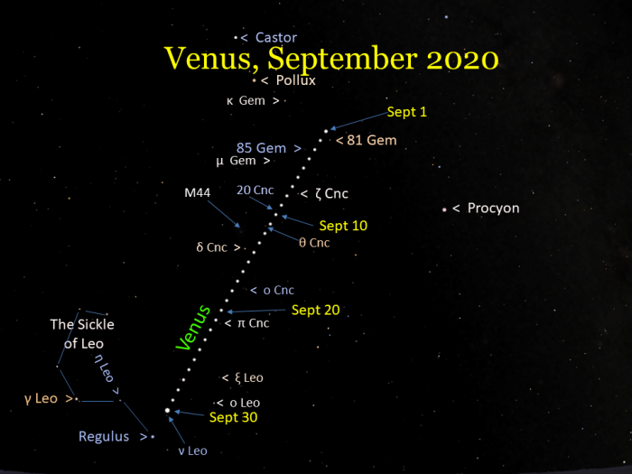 Venus during September 2020