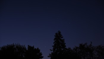 Venus, Sirius, and Orion, September 18, 2020