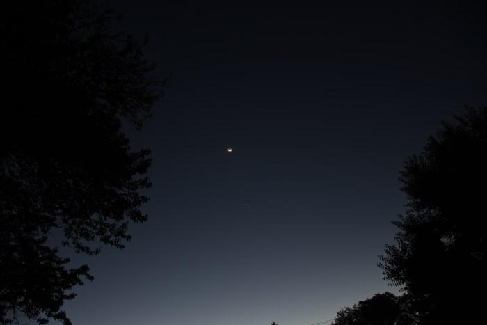 Venus and Moon, October 13, 2020