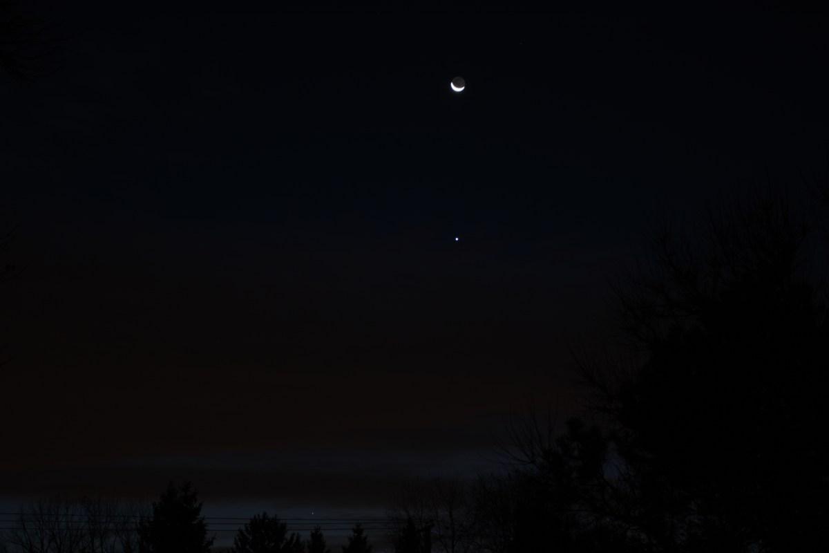 Venus and crescent Moon, November 12