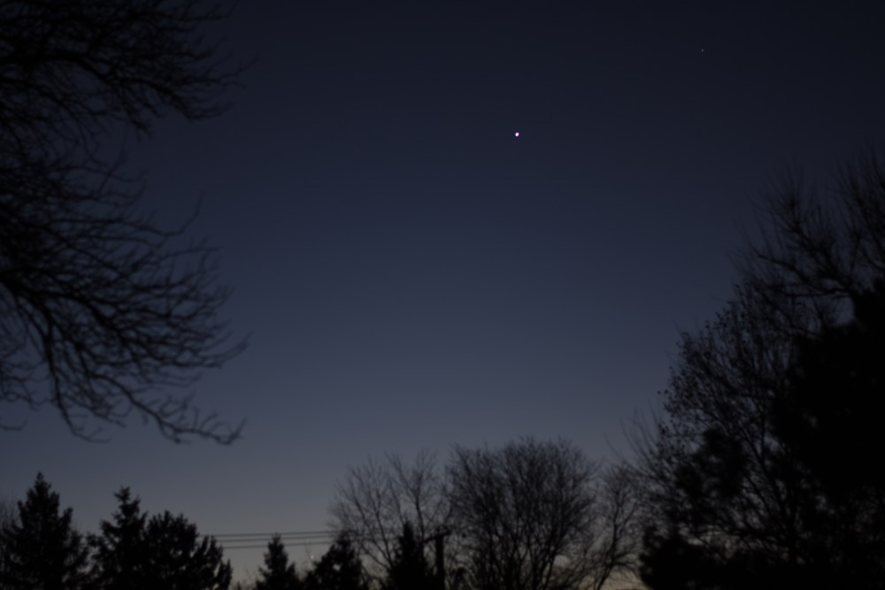 Venus and Mercury, November 20, 2020