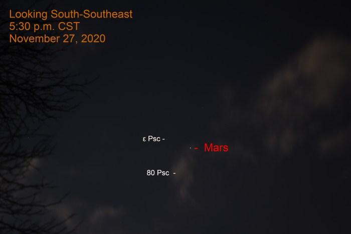 Mars in Pisces, November 27, 2020