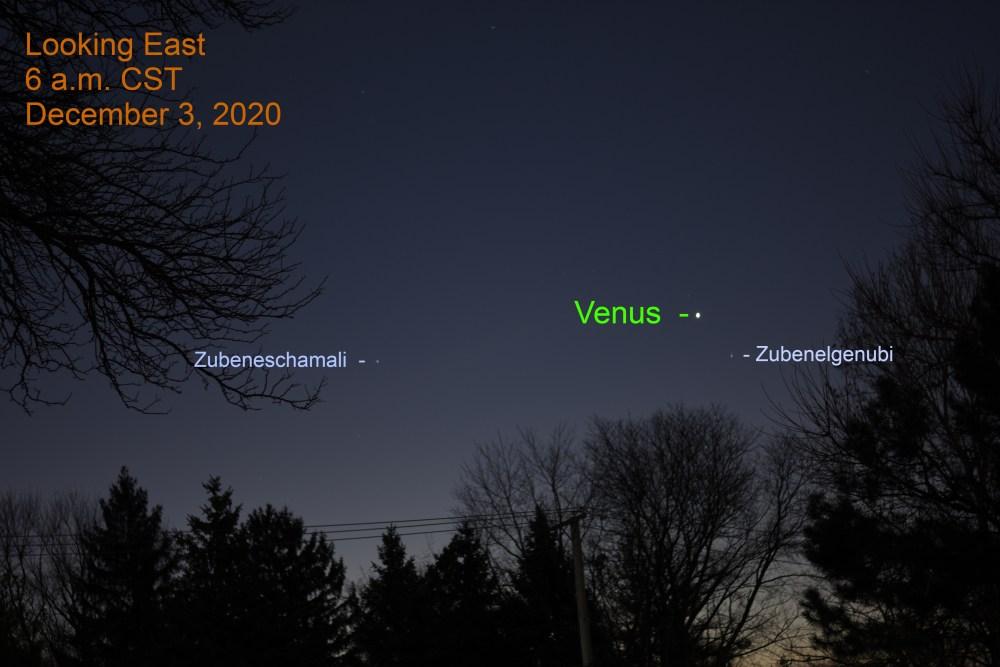 Venus, December 3, 2020