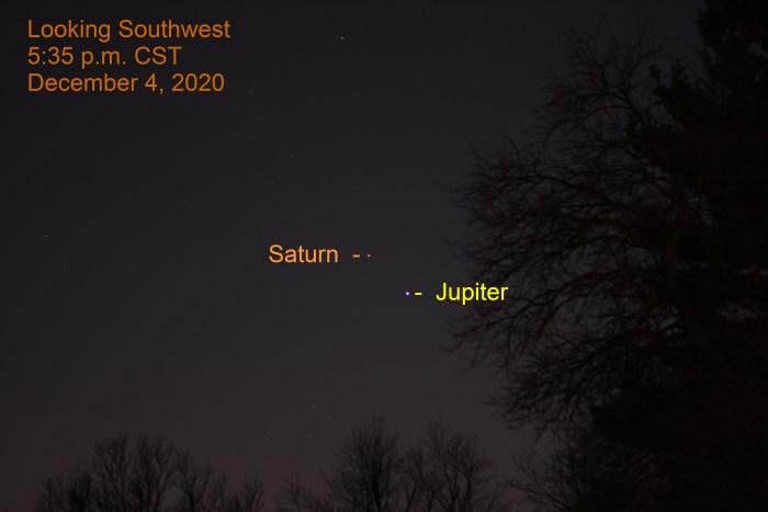 Jupiter and Saturn, December 4, 2020
