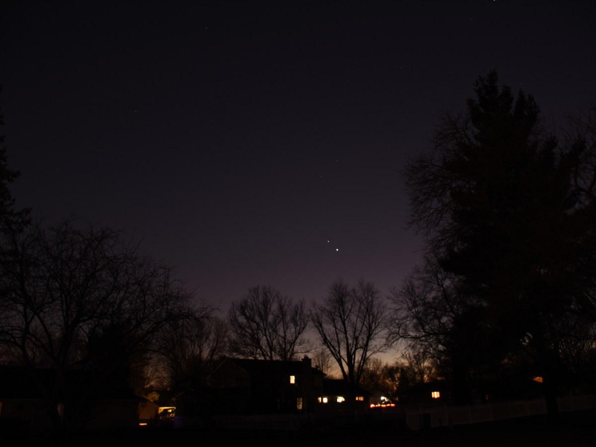 Jupiter and Saturn, December 9, 2020