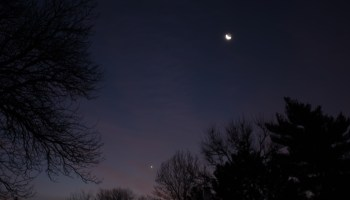 Venus and Moon, December 11, 2020