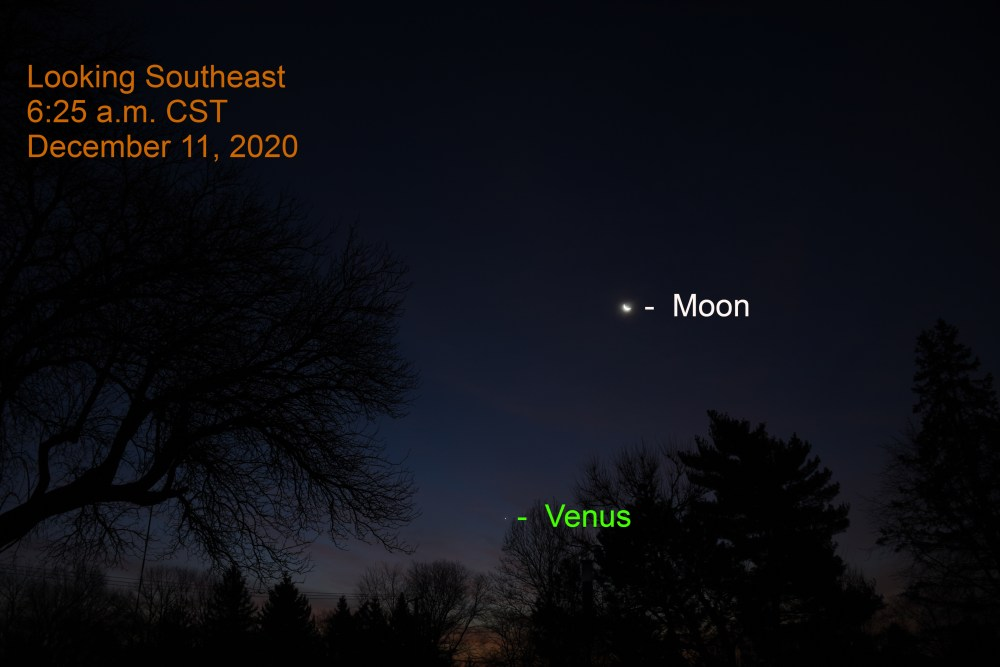 Venus and Moon, December 11, 2020