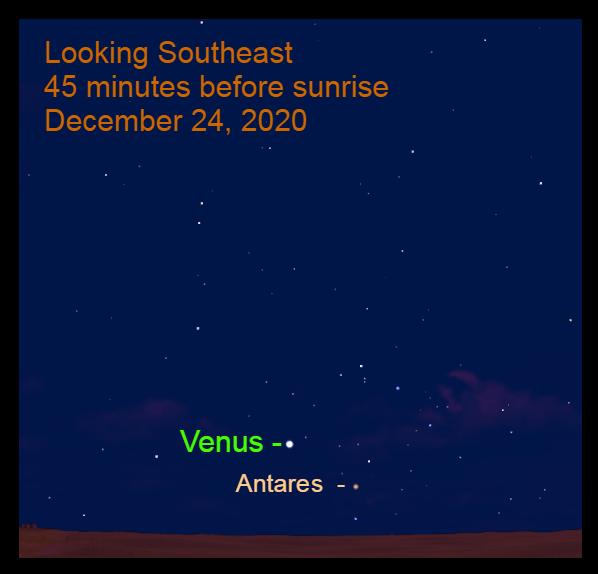 Morning Star Venus, December 24, 2020