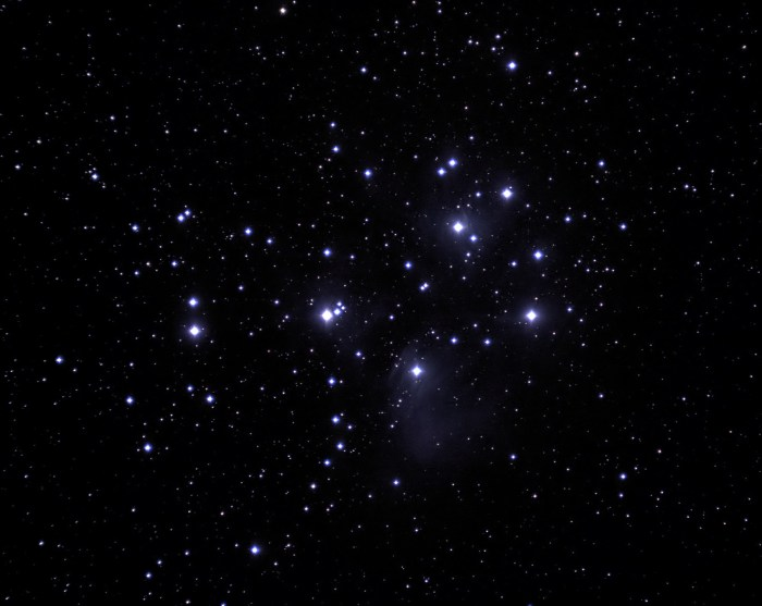 The Pleiades star cluster.