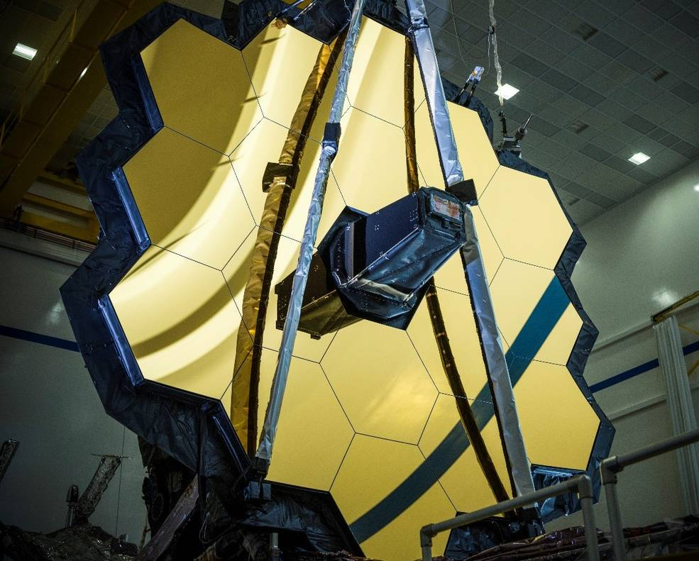 NASA's James Webb Space Telescope is the largest, most powerful, and most complex space science telescope ever built. Credits: NASA/Chris Gunn
